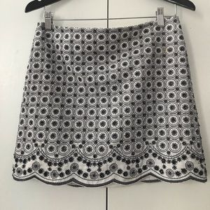 Club Monaco beaded mini skirt